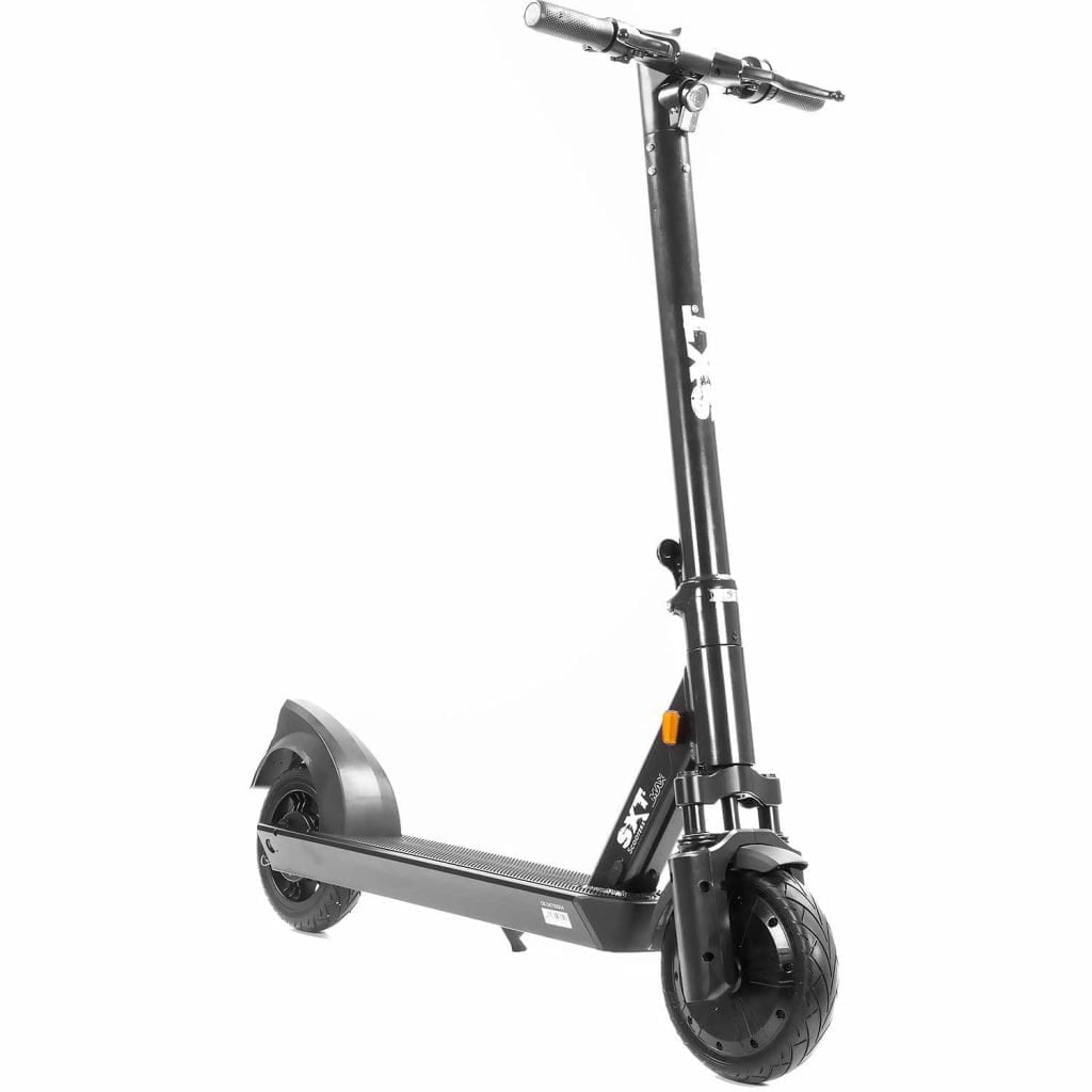 SXT MAX Electric Scooter eKFV (STVZO), 350W, Long Range, Dust-proof and Waterproof Resistant, 120kg Load, Front-Side View