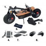 SXT Monster Off Road Electric Scooter accessories highlight