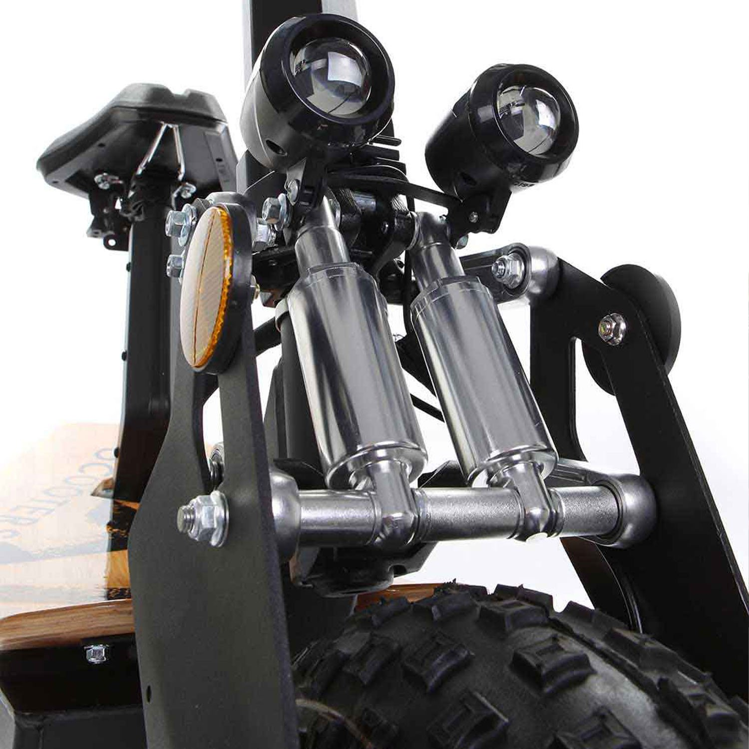 SXT Monster Off road Electric Scooter Front LED Light shock absorbers