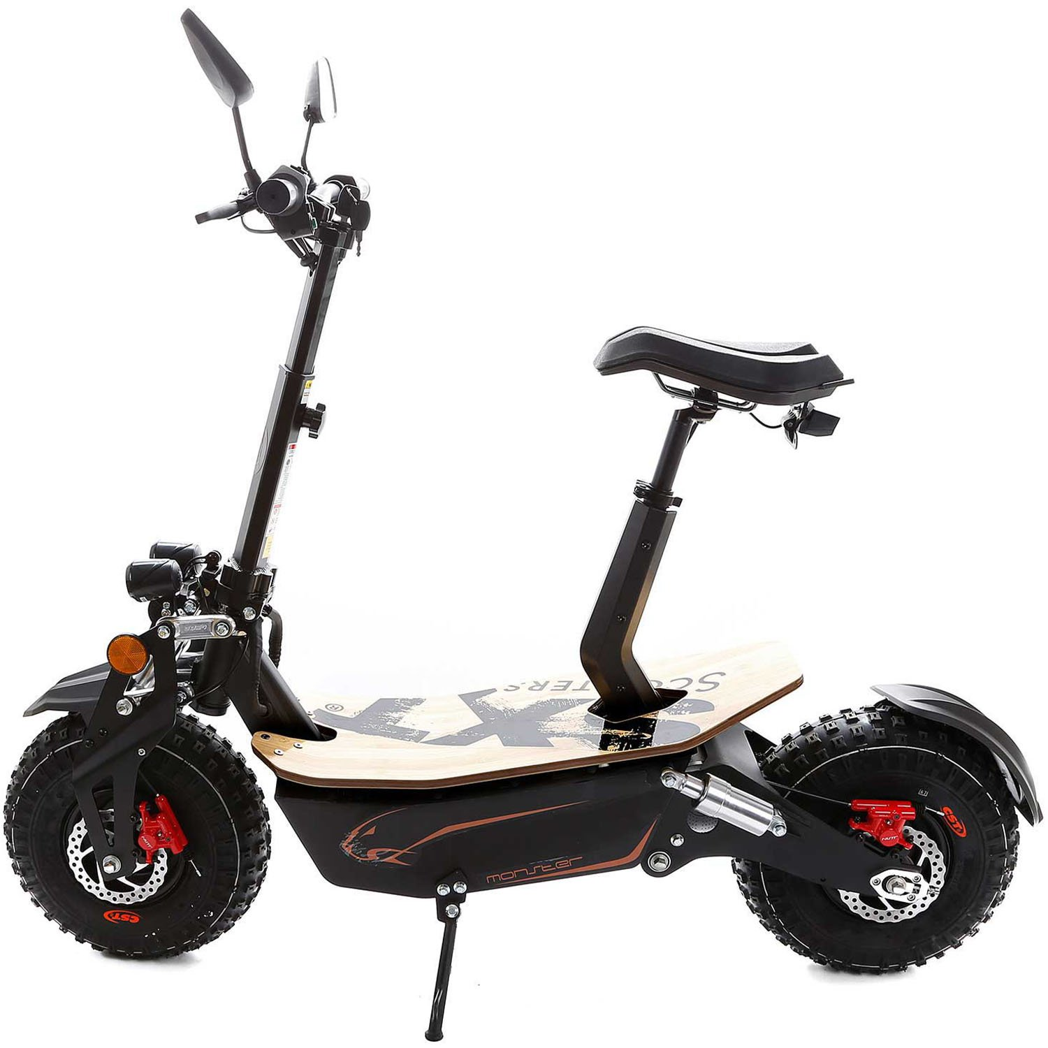 SXT Monster Off road Electric Scooter Side View
