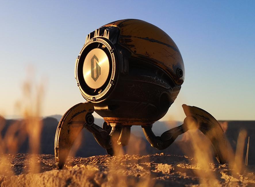 Gravastar G1 Mars Bluetooth Speaker 20W, War Damaged Version - Yellow Cover