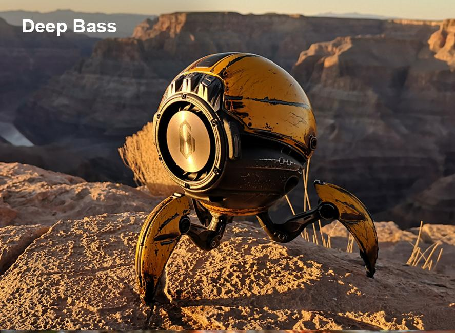 Gravastar G1 Mars Bluetooth Speaker 20W, War Damaged Version - Yellow Deep Base