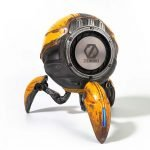 Gravastar G1 Mars Bluetooth Speaker 20W, War Damaged Version - Yellow _Back Bass